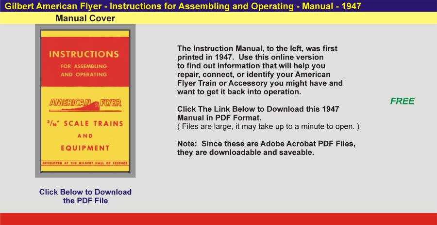 1947 - Instruction Manual,