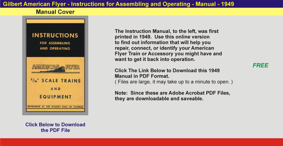 1949 - Instruction Manual