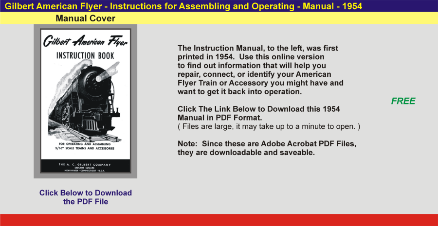 1954 - Instruction Manual