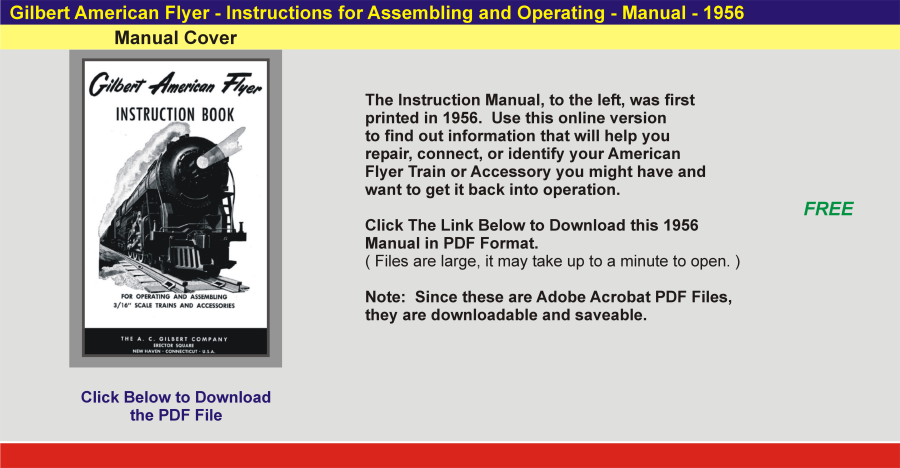 1956 - Instruction Manual