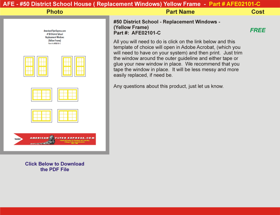 50-District-School-Replacement-Windows-(Yellow Frames), AFE02101-C,