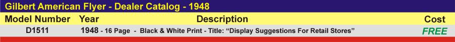 D1511 - Dealer Catalog,