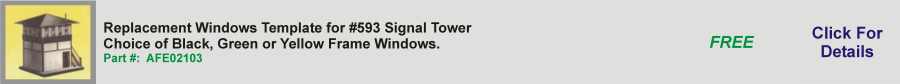 Replacement Windows Template for #593 Signal Tower,