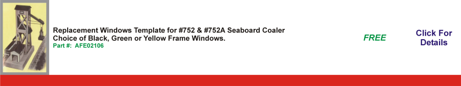 Replacement Windows Template for #752 & #752A Seaboard Coaler,