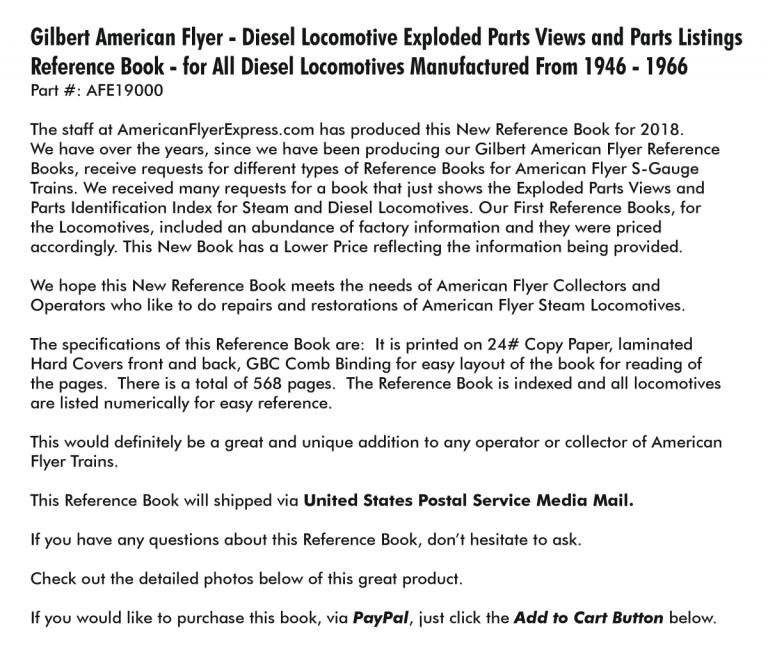 American Flyer Express - Diesel Book Details