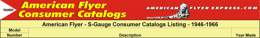 American Flyer Express Consumer Catalogs