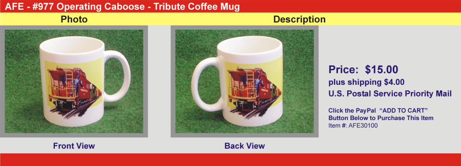 #977 Operating Caboose - Tribute Coffee Mug