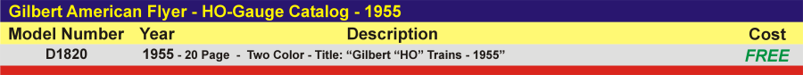 D1820 - HO-Gauge Catalog