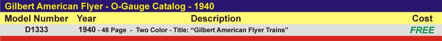 D1390 - O-Gauge Catalog