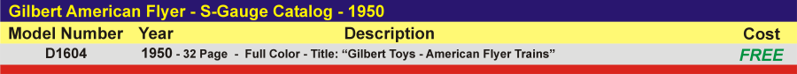 D1604 - S-Gauge Catalog