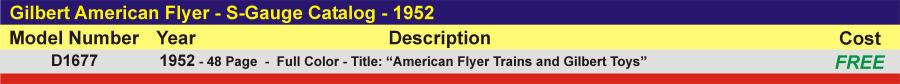 D1677 - S-Gauge Catalog