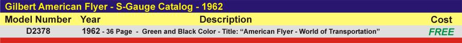 D2378 - S-Gauge Catalog