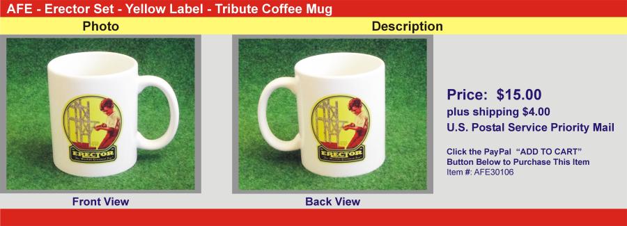 AFE - Erector Set - Yellow Label - Tribute Coffee Mug
