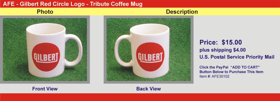Gilbert Red Circle Logo - Tribute Coffee Mug