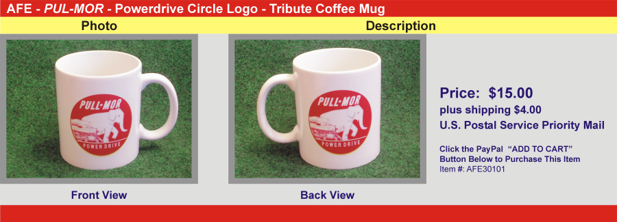 PUL-MOR - Powerdrive Circle Logo - Tribute Coffee Mug