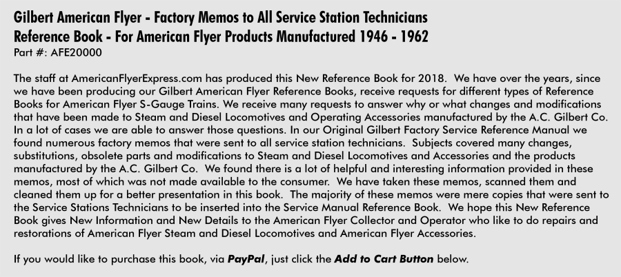 Gilbert American Flyer Reference Books For Sale